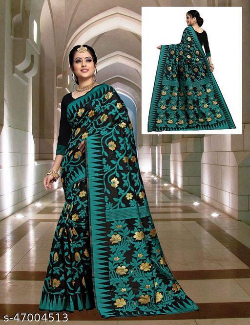 Jamdani saree with blouse piece