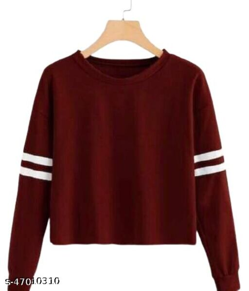 Jalsa Long Sweatshirts With Full Sleeve Round Neck Women And Girls Wear
