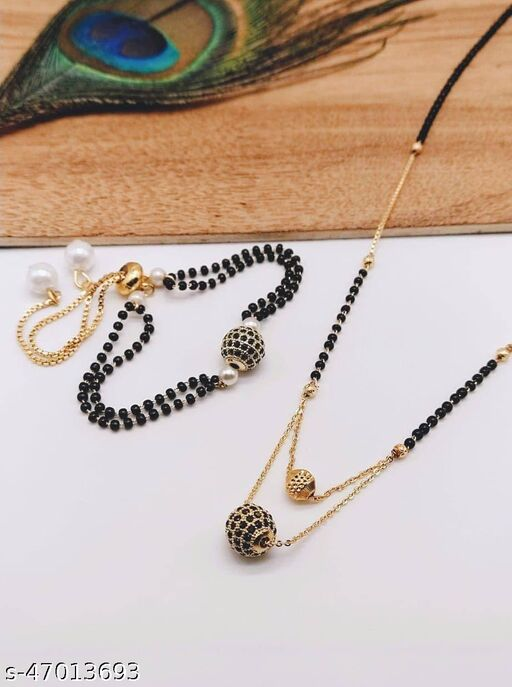Allure Beautiful Mangalsutra With Hand Bracelet