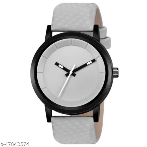 KBL Off White Dial with Black Case Analogue Watch for Boy's and Men's (Pack of - 1)