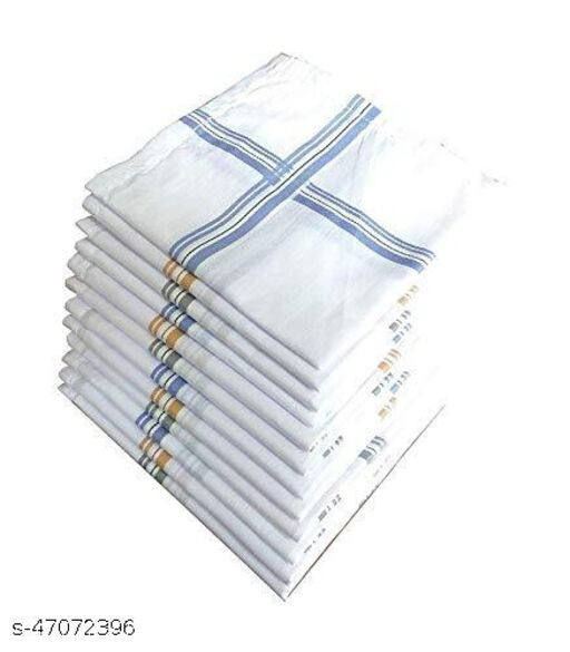 Men Cotton Handkerchief, Hanky, Rumal (Pack of 12)