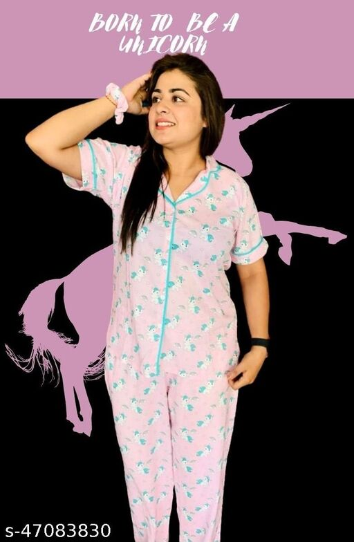 AlaskaNZ Rayon Half Sleeves Range for India. Please purchase Nightwear PJ Set 3-4 inches loose to your bust as Nightwear is supposed to be loose for best comfort. We hope we make your day & night with this beautiful collection.
