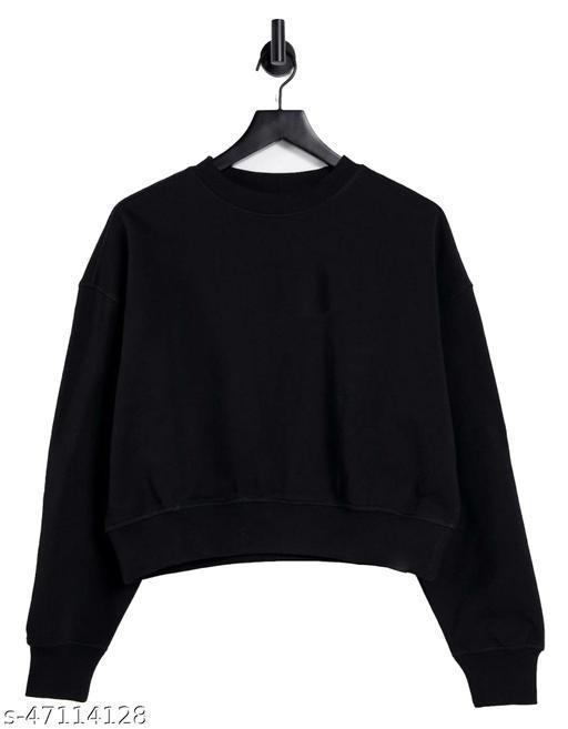 Women's Crop Sweatshirt Suitable for Summer & Winter