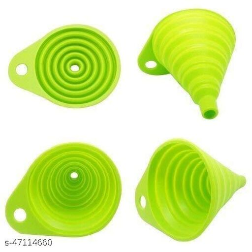 Foldable Silicone Funnel Food Grade Silicone Collapsible Funnel for Liquid Transfer As Oil Water Essential Oil Shampoo Sanitizer Kitchen Tool Gadget