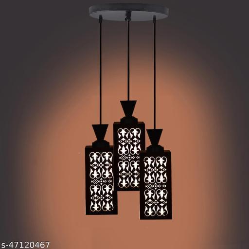 Merci Three Light Creative Wood Pendant Light Lamp & One Round Fitting Pendants Ceiling Lamp suitable for Living Room,Foyer,Bedroom,Hallway