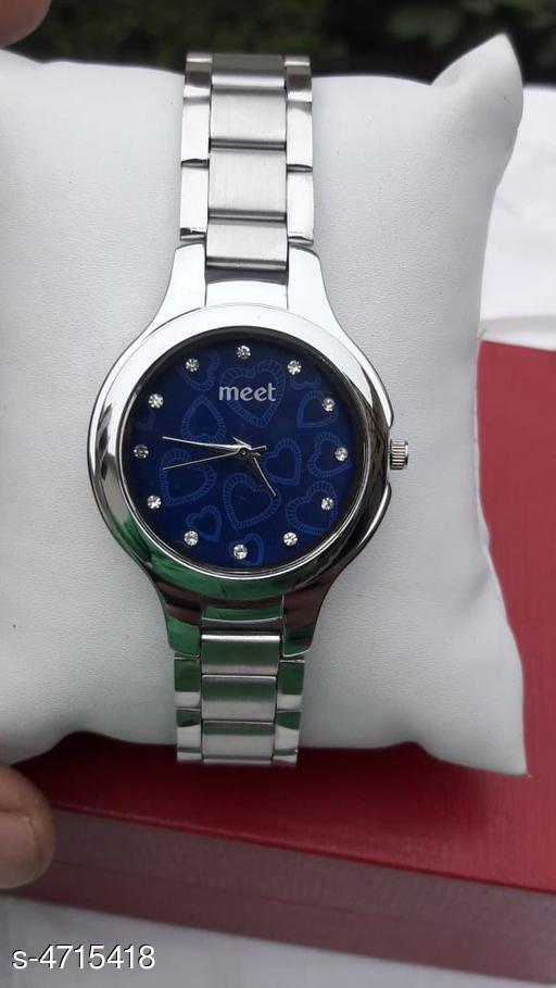Trendy Stylish Stainless Steel Women's Watch