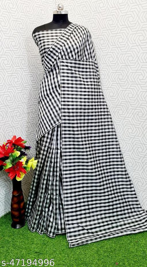 Julee Women's Cotton Silk Saree (Free Size)Fast Saree Black