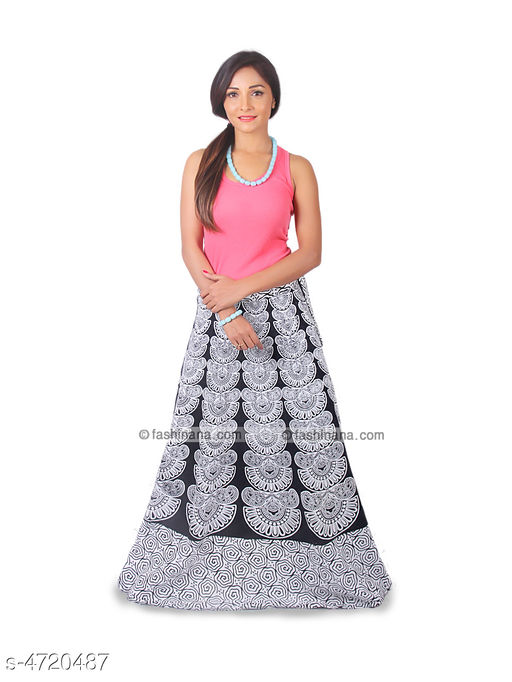 Ethnic Bottomwear - Skirts Stylish Cotton Women's Skirt  *Fabric* Cotton   *Size* Up To 28 in To 36 in (Free Size)   *Length* Up To 40 in   *Type* Stitched   *Description* It Has 1 Piece Of Women's Skirt   *Work* Printed  *Sizes Available* Free Size   Supplier Rating: ★4 (2754) SKU: Black_White  Shipping charges: Rs1 (Non-refundable) Pkt. Weight Range: 300  Catalog Name: Trendy Stylish Cotton Women's Skirts Vol 1 - Style N Fashion kurtis Code: 933-4720487--283
