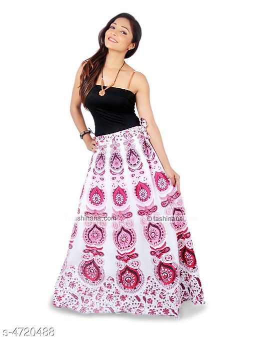 Ethnic Bottomwear - Skirts Stylish Cotton Women's Skirt  *Fabric* Cotton   *Size* Up To 28 in To 36 in (Free Size)   *Length* Up To 40 in   *Type* Stitched   *Description* It Has 1 Piece Of Women's Skirt   *Work* Printed  *Sizes Available* Free Size   Supplier Rating: ★4 (2754) SKU: Red_Mirchi  Shipping charges: Rs1 (Non-refundable) Pkt. Weight Range: 300  Catalog Name: Trendy Stylish Cotton Women's Skirts Vol 1 - Style N Fashion kurtis Code: 933-4720488--283