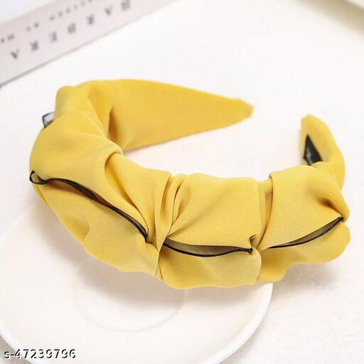 Stylish Yellow Plastic Head Turner Hairband  for Women and Girls