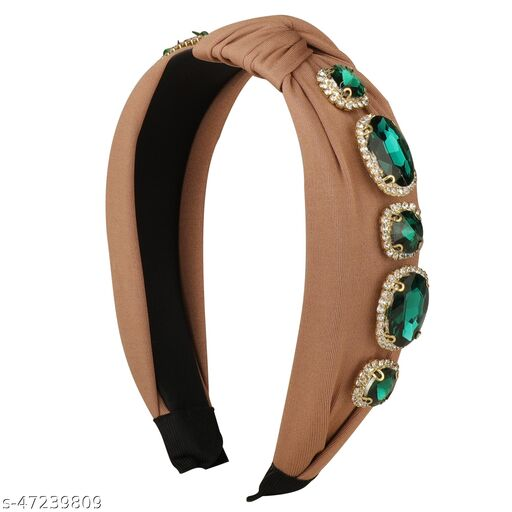 Cute Brown Plastic Emerald Shine Hairband  for Women and Girls Hair Accessories