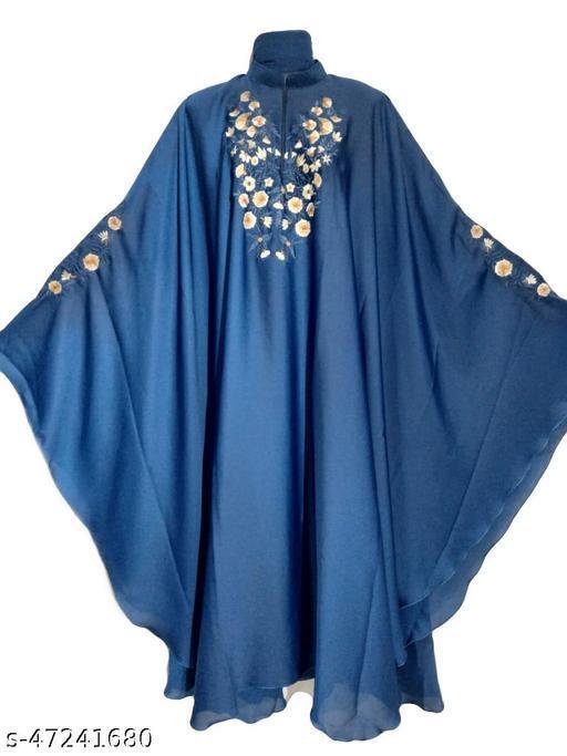 Beautiful Dubai Style Firozi Dubai Kaftan in Al Nida Fabric