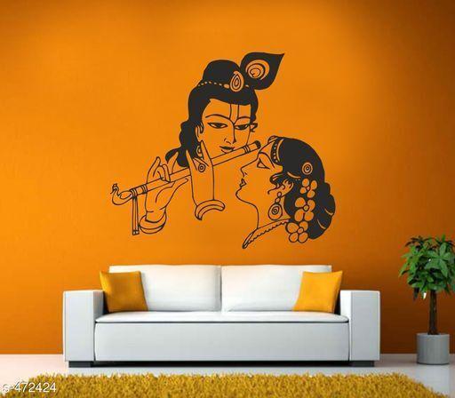 Stylish Vinyl Radha and Krishna' Wall Sticker