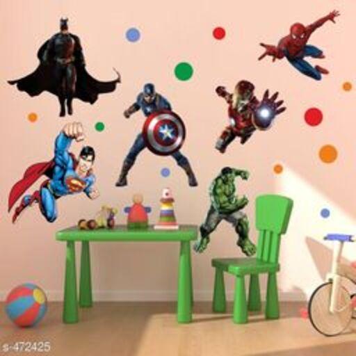 Stylish Vinyl Decal Style Super Hero League Wall Sticker