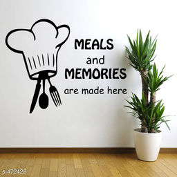 Stylish Vinyl Meals and Memories' Wall Sticker