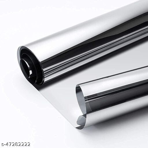 SIA VENDORS™ 50cm X 200cm Mirror Effect Tint Glass Covering for Home II Office Daytime Privacy Protecting Reflective Heat Control Anti UV Door Sticker