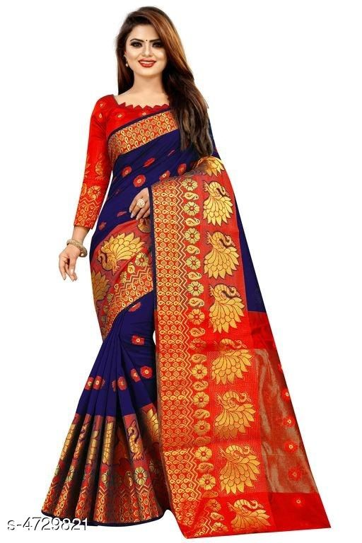 Myra Drishya Cotton Silk Wooven Design Saree
