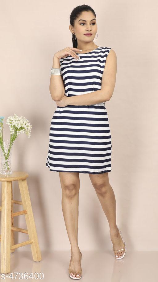 Women's Printed Multicolor Crepe Dress