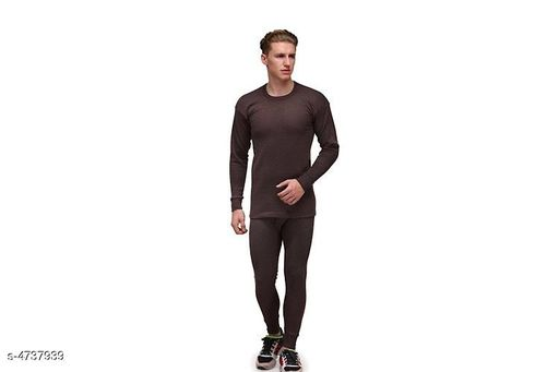 Thermal Tops Stylish Men's  Top - Pyjama Set Thermal  *Fabric* Woolen  *Sleeves* Sleeves Are Included  *Size* Top - S - 38  in, M- 40 in, L - 42 in, XL - 44 in, Bottom - S- 28 in, 30 in, M - 32 in, L - 34 in, XL - 36 in  *Length* Top Length - upto 32 in, Bottom - upto 38 in  *Description* It Has 1 Piece Of Men's Thermal Top &1 Piece Of  Bottom  *Pattern* Solid  *Sizes Available* S, M, L, XL *   Catalog Rating: ★4 (6)  Catalog Name: Stylish Men's  Top - Pyjama Set Thermal CatalogID_689296 C76-SC1056 Code: 344-4737939-