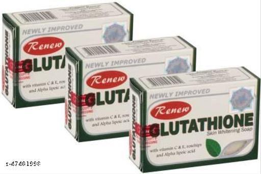 RENEW GLutathione Wrikle Reduction Soap  (3 x 135 g)