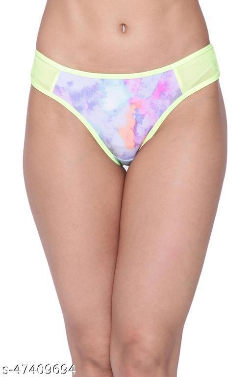 Women Bikini Multicolor Net Panty