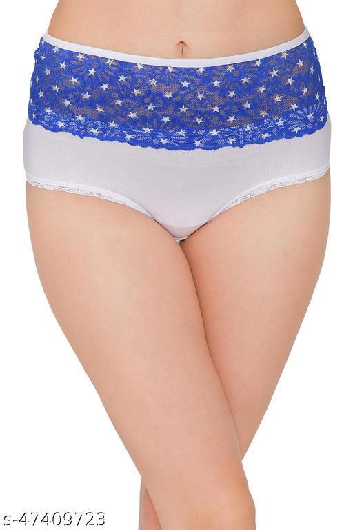 Women Hipster White Cotton Panty