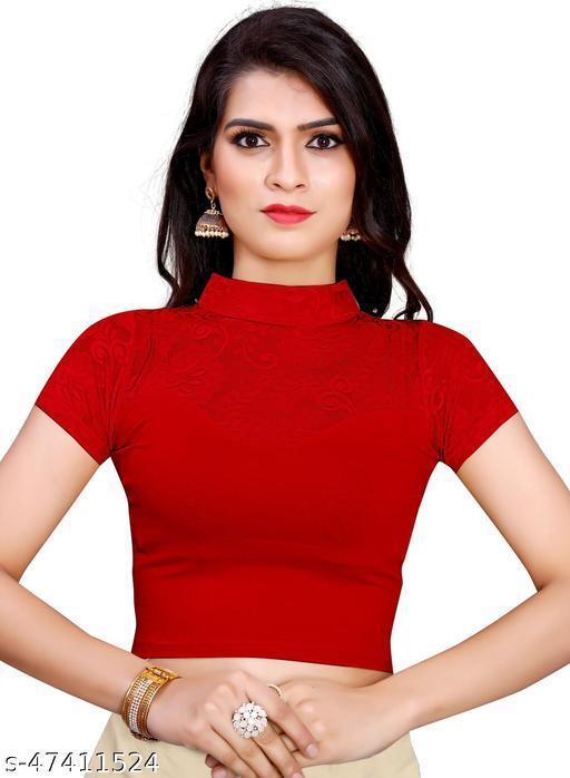 Prerna Enterprise Readymade Cotton Lycra Stretchable Saree Blouse