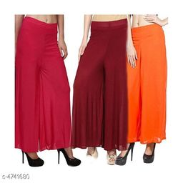 Attractive Trendy Women's Palazzos (Pack Of 3)