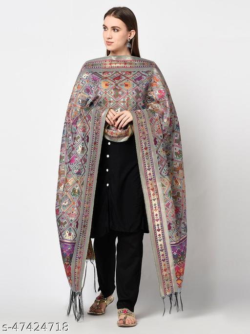Safaa Moonga Silk Woven Design Women Dupatta