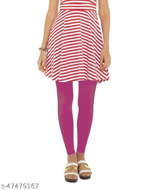 Lakshmya Ankle Length Cotton Lycra 4-Way Stretchable with Miani Legging 180 GSM (Waist Size 28-40) Color : Dark-Rose