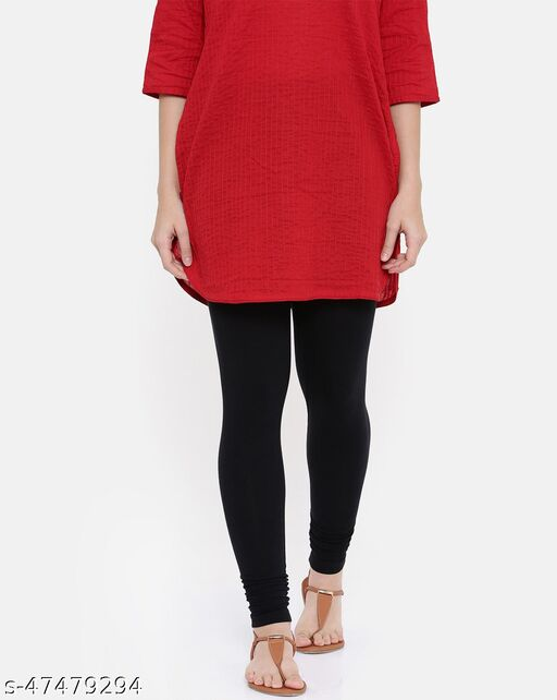 Lakshmya Ankle Length Cotton Lycra 4-Way Stretchable with Miani Legging 180 GSM (Waist Size 28-40) Color : Black