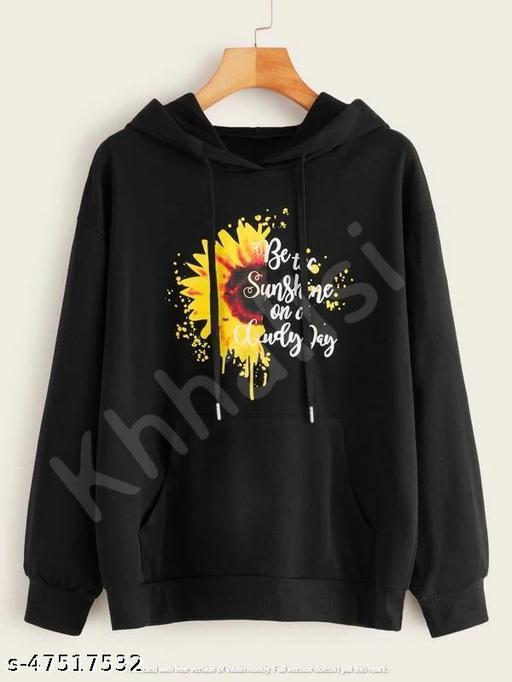 Cute Printed Hoodie Sweatshirt