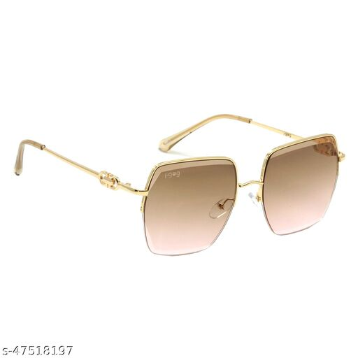 IG-2037-GL-GN-PK 60mm Large Rectangular::Over-sized Green Pink Gradient Sunglasses