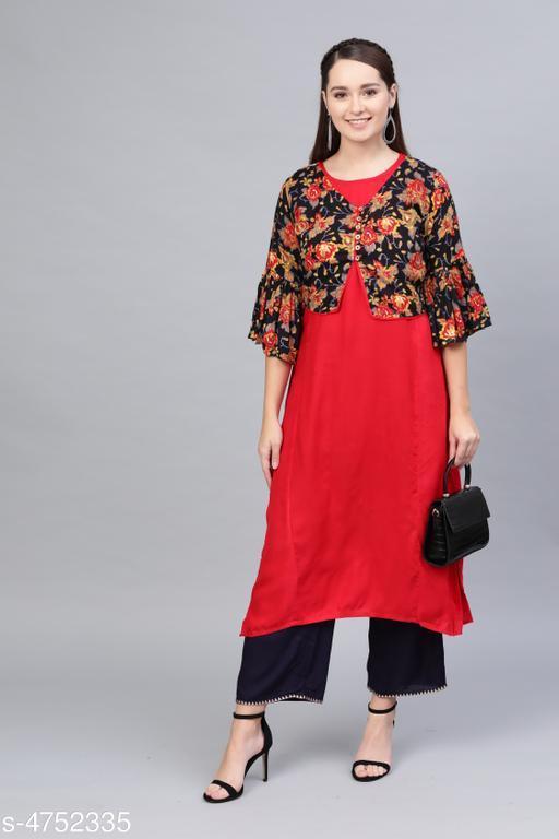 Kurtis & Kurtas Women's Solid Cotton Kurti  *Kurti Fabric* Cotton  *Jacket Fabric* Cotton  *Sleeve Length* Three-Quarter Sleeves  *Pattern* Embroidered  *Combo of* Single  *Sizes*   *S ( Kurti Bust Size* 36 in, Kurti Size Length  *XL (Kurti Bust Size* 42 in, Kurti Size Length  *L (Kurti Bust Size* 40 in, Kurti Size Length  *M (Kurti Bust Size* 38 in, Kurti Size Length  *XXL (Kurti Bust Size* 44 in,Kurti  Size Length  *Sizes Available* S, M, L, XL, XXL *    Catalog Name: Women's Printed Cotton Kurtis CatalogID_691735 C74-SC1001 Code: 495-4752335-