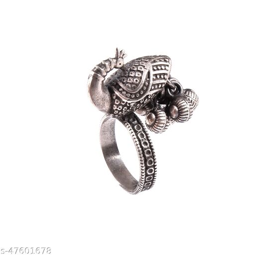 Silver Peacock, Oxidized Rawa Ring