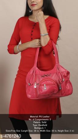 Trendy Women's Pink Handbag