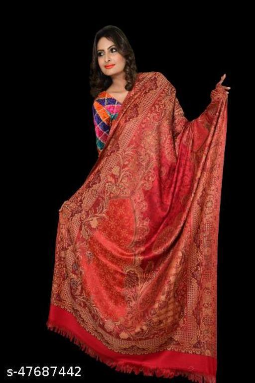 Rishabh's Woollen Multi Color Shawl Size  40 *80  For Women
