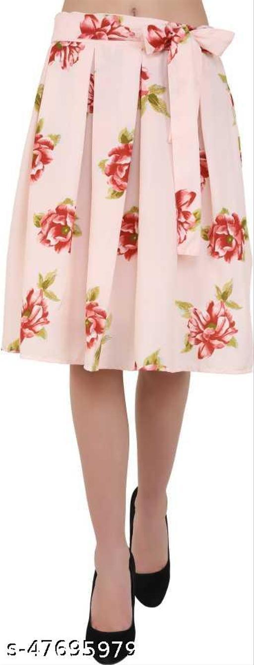 Short Flared & Pleated Skirt
