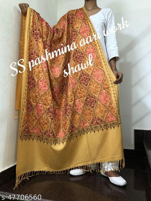 Kashmiri Aari Work Pashmina Shawl