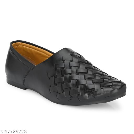 Paris Style New Latest Casual Synthetic Leather Loafer Formal Shoes For Mens Color Black 5023