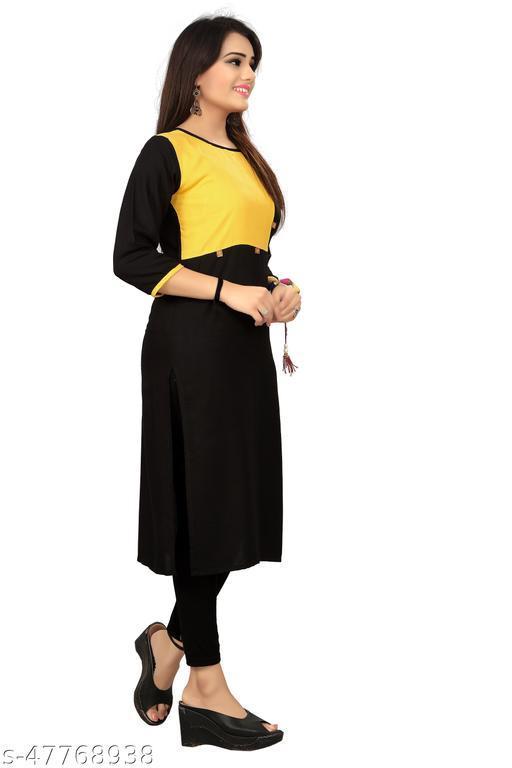 Women's Rayon Calf Length Kurta