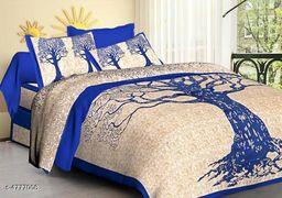 Classy Pure Cotton 100 x 90 Double Bedsheet