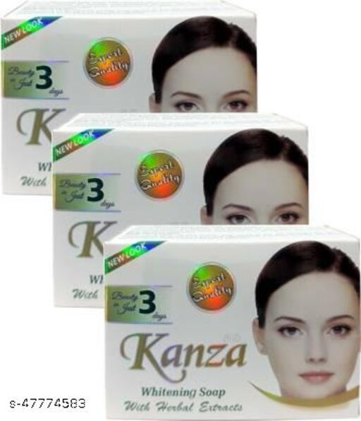 Kanza Beauty Whitening soap Made in Pak set of 3