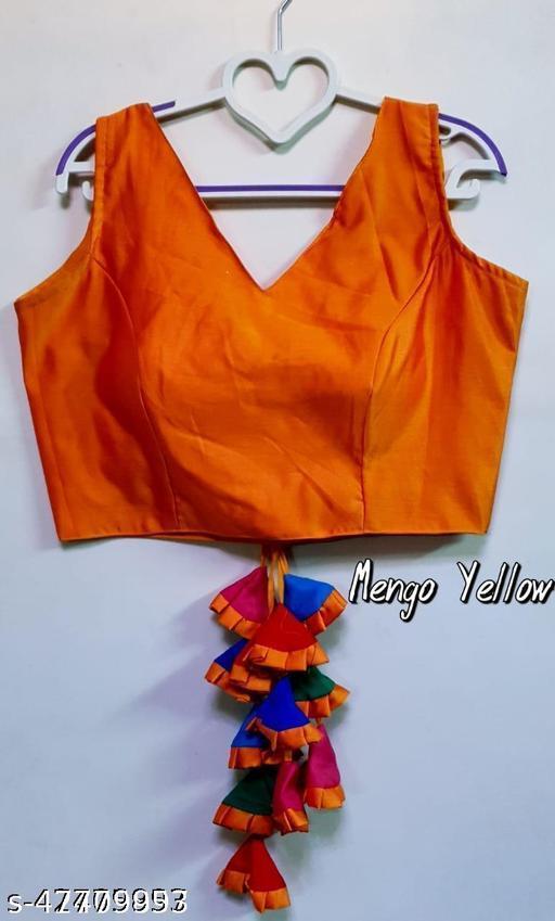 Pooja mills sleeveless v neck  New  fancy Blouse