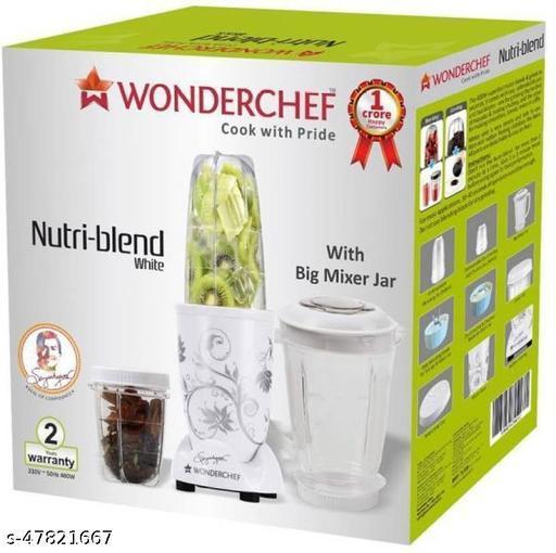 WONDERCHEF Nutriblend with Mixing Jar Nutriblend White 400 W with Mixing Jar 400 Juicer Mixer Grinder (3 Jars, White) ()