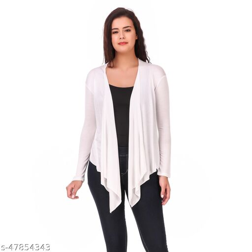 solid casual shrug for women