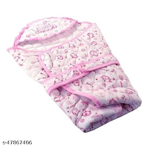 International Printed, Floral Single Hooded Baby Blanket  (Cotton, Multicolor)