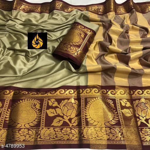 Trendy Cotton Silk Saree For Women