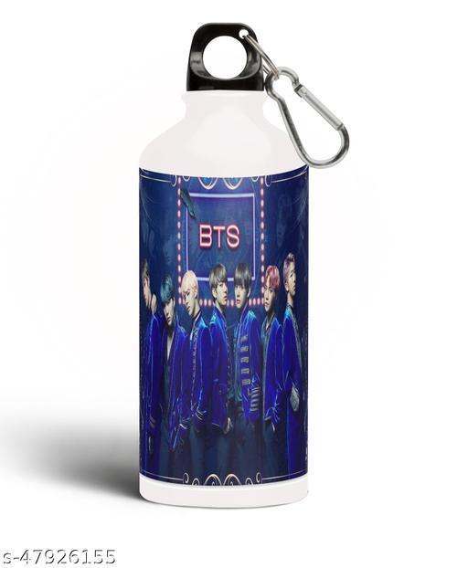 BTS Bangtan Boys Theme Fan Art Sipper Water Bottle