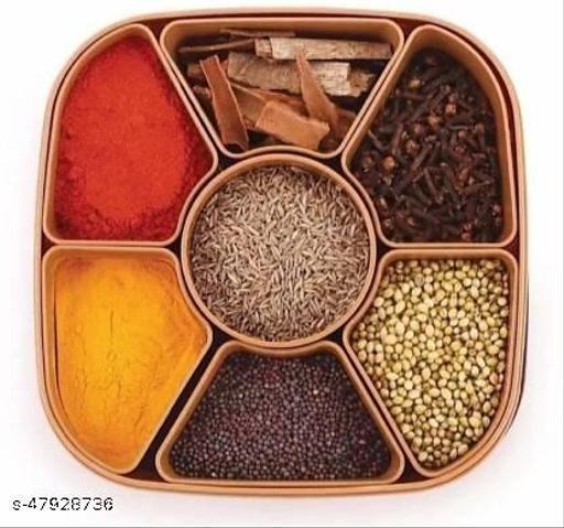 Spice Container And Masala Box Square Plastic Spice Container